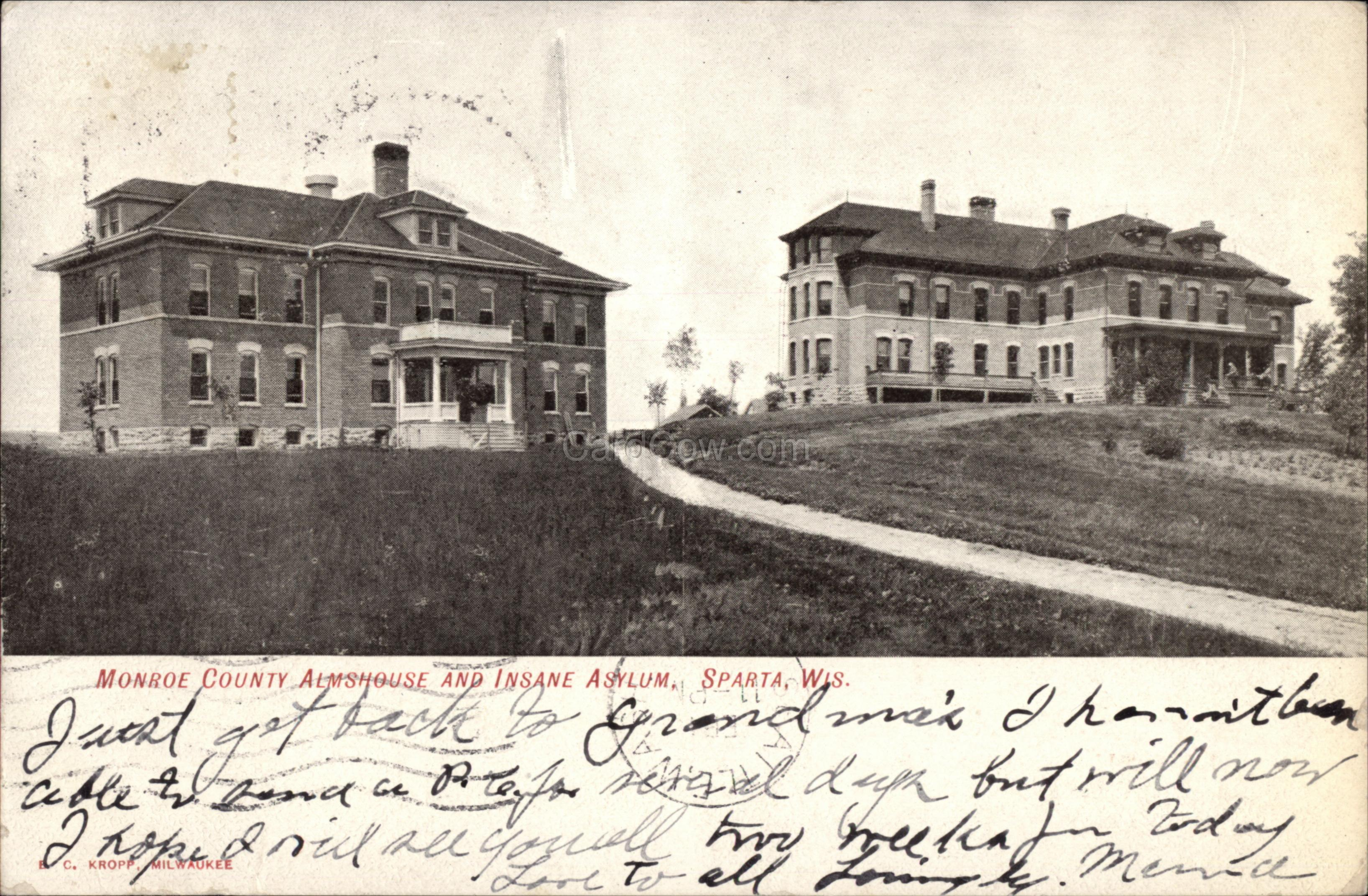 Sparta (WI) United States  City pictures : ... County Almshouse and Insane Asylum Sparta, WI Asylum Projects